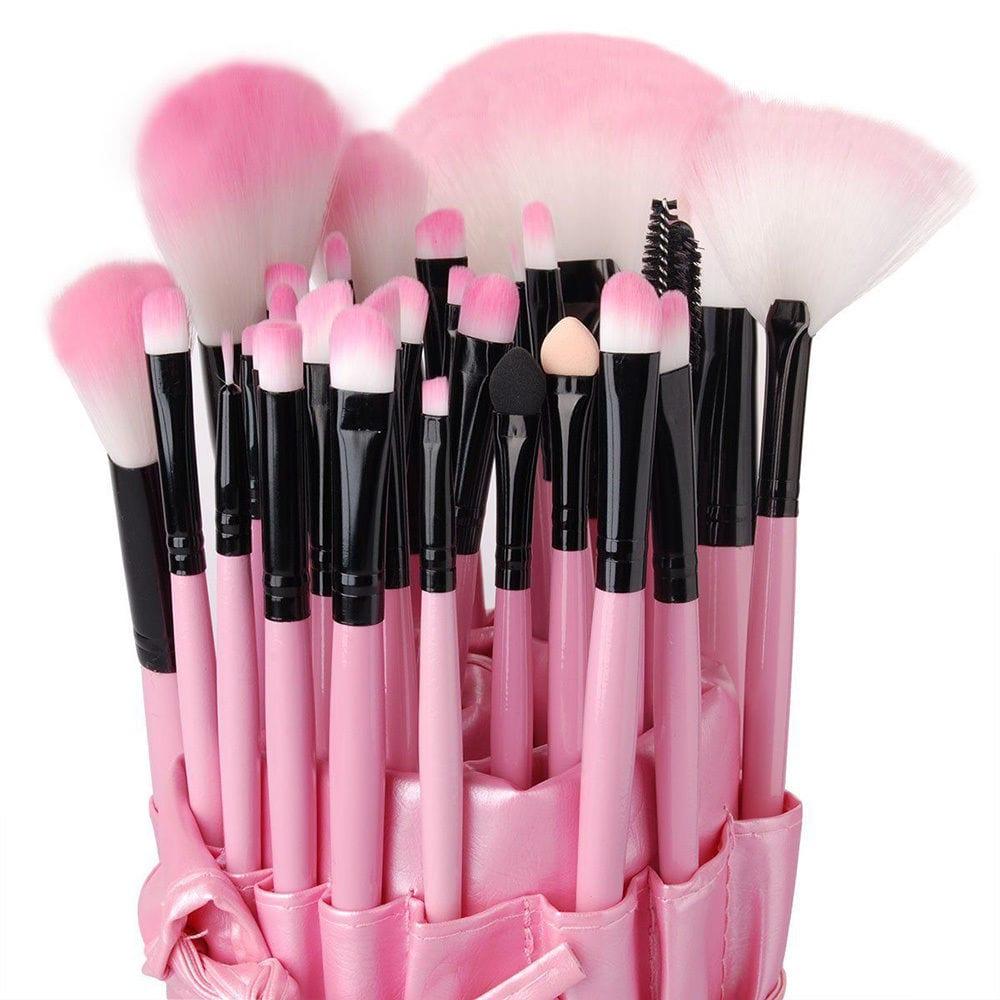32pcs Pink Makeup Brush Set Pink Hair Colour Zone