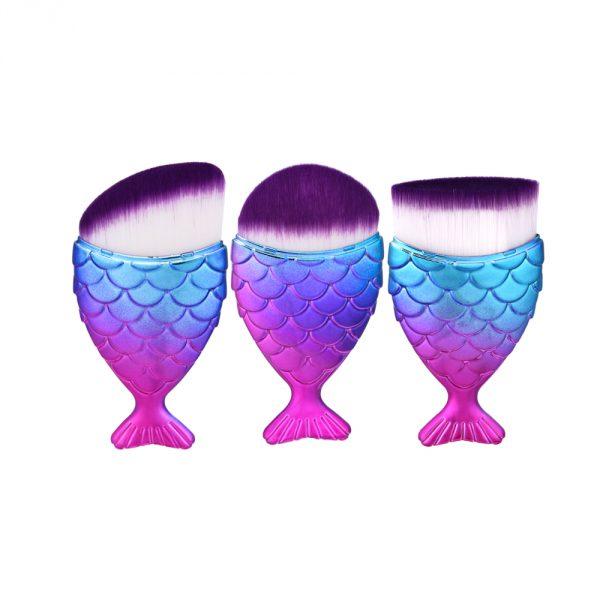 3pcs fish Purple brush set