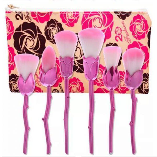 6pcs pink flower AND rose bag