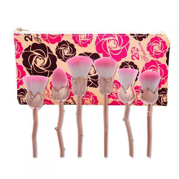 6pcs rose gold flower AND rose bag
