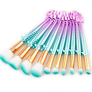 10pcs Flying Fish makeup brush set