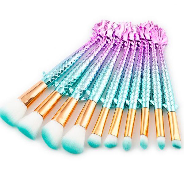 10pcs Flying Fish makeup brush set