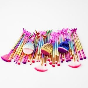 3 x 11pcs fishtail eye makeup brush