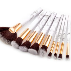 9pcs marble makeup brush set
