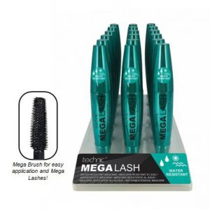Technic Mega Lash Water Resistant Black Mascara tray