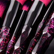 10pcs Purple-Black Shimmer Star Brush Set 2