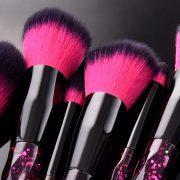 10pcs Purple-Black Shimmer Star Brush Set 3