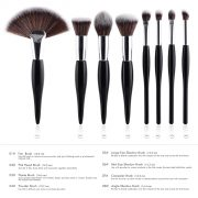 8pcs Black-Silver Makeup Brush Set 1