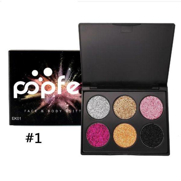 PopFeel 6pcs Glitter Shimmer Eyeshadow #1