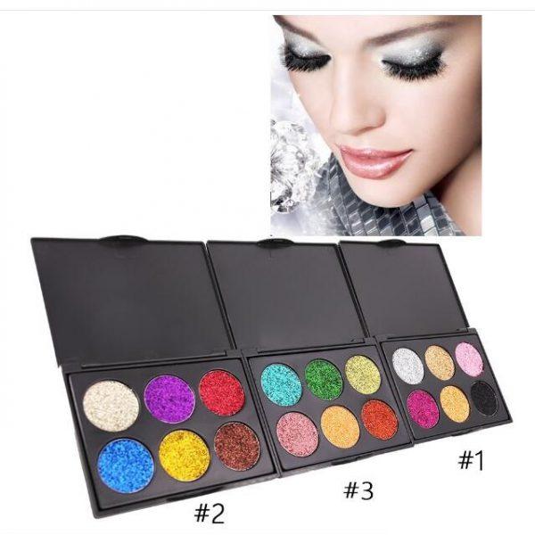 PopFeel 6pcs Glitter Shimmer Eyeshadow #123 1