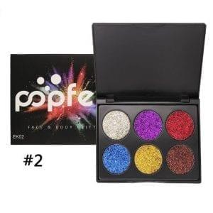 PopFeel 6pcs Glitter Shimmer Eyeshadow #2