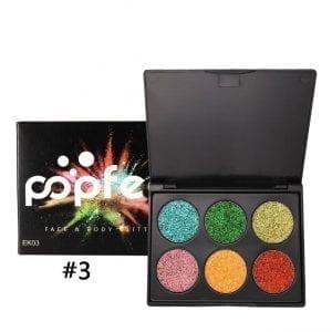 PopFeel 6pcs Glitter Shimmer Eyeshadow #3