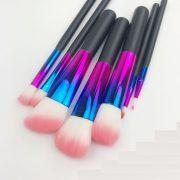7pcs Metallic colours pink-white hair makeup brush set