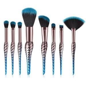 Glowii 8pcs Seashell Makeup Brush Set