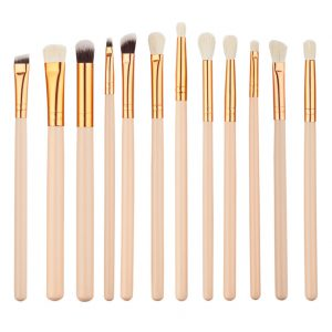 12pcs Nude-Pink Rose-Gold Eye Makeup Brush Set