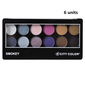 City Color Eyeshadow Smokey x 6 1