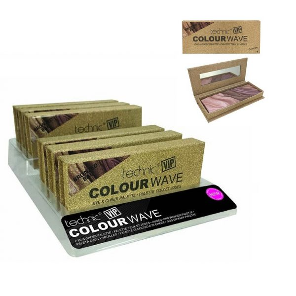 Technic Vip Colour Wave Eye Cheek Palettes Bronzed Bae