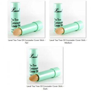 Laval Tea Tree Oil Concealer Cover Stick 3pcs 1