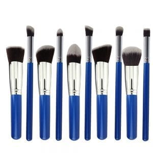 10pcs blue silver 7