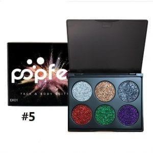 PopFeel 6pcs Glitter Shimmer Eyeshadow #5
