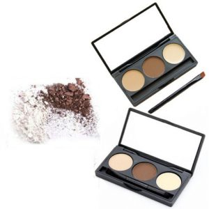 3 colours eyebrow kit