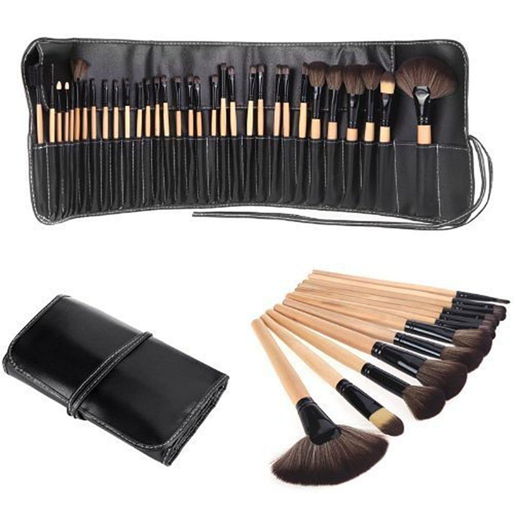 32pcs Eco-Friendly Wooden Makeup Brush Set