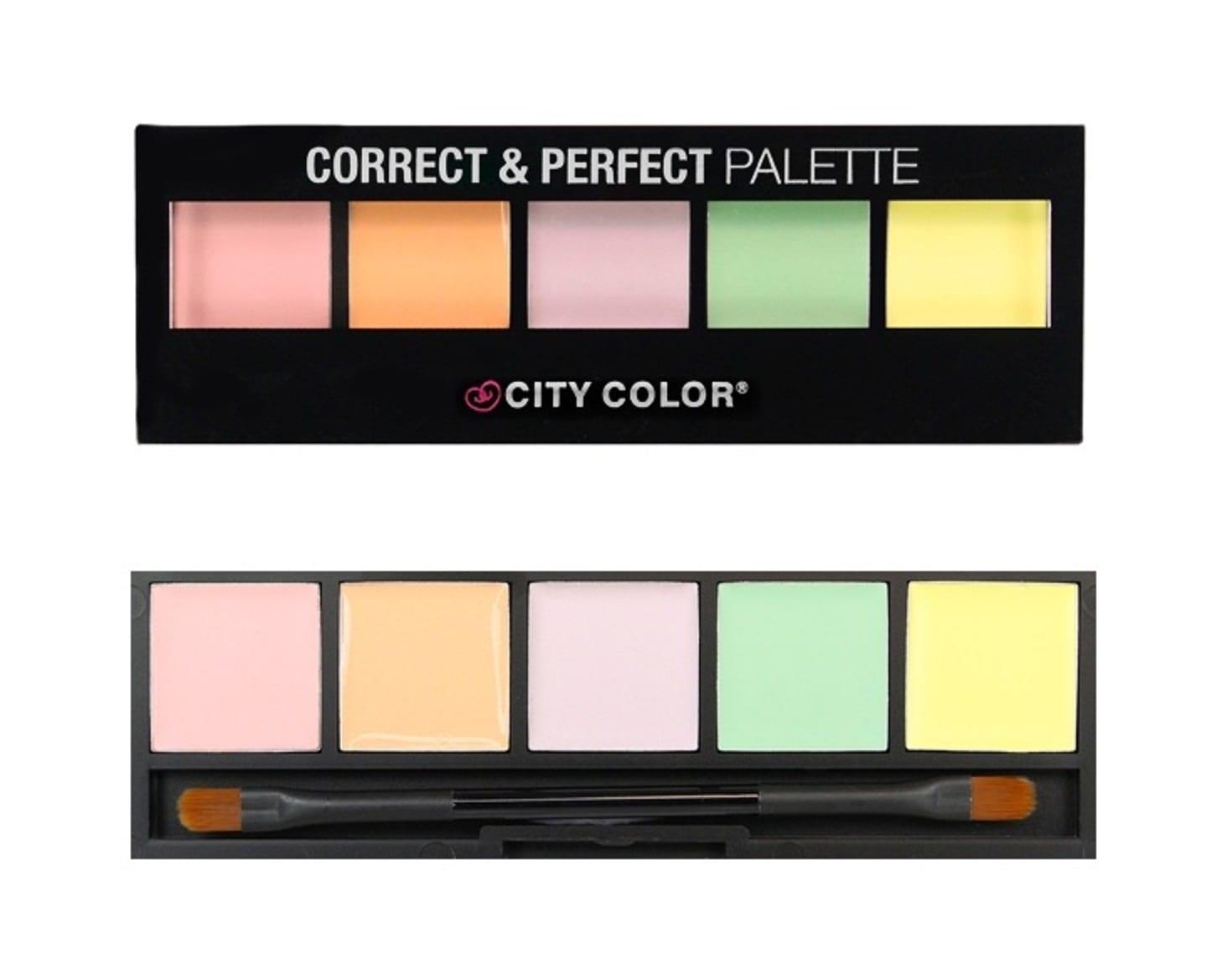 City Color 5 Colours Correct Perfect Palette Colour Zone Cosmetics Contour 2 Concealer
