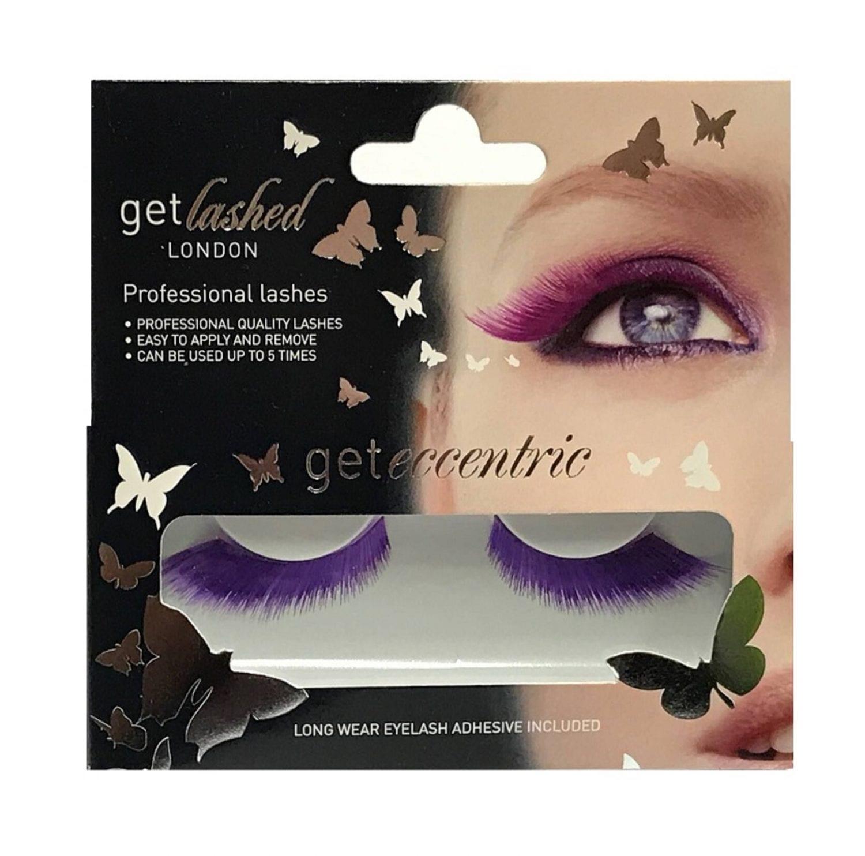 0fdeae3be17 Get Lashed London False Eyelashes - Bright Purple - Colour Zone ...