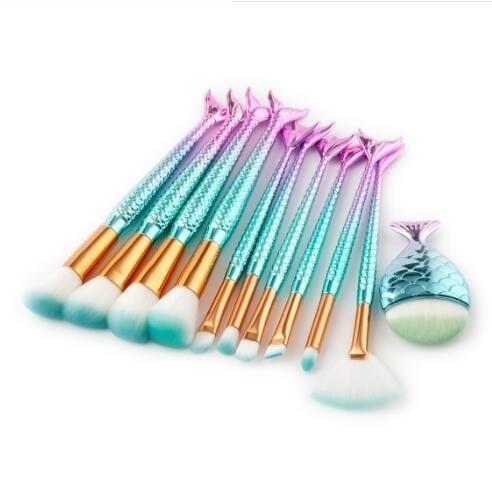 11pcs fishtail brush set