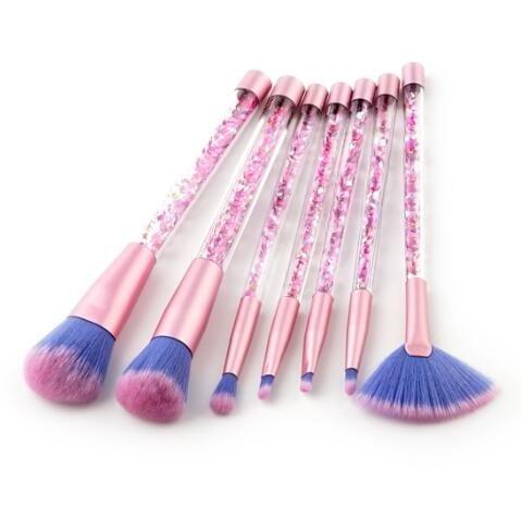 7pcs moving glitter brush