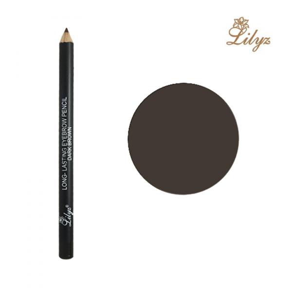 Lilyz Long-Lasting Eyebrow Pencil – Dark Brown