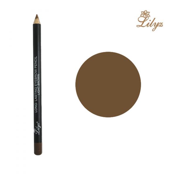 Lilyz Long-Lasting Eyebrow Pencil – Light Brown