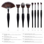 8pcs Black-Silver Makeup Brush Set 1