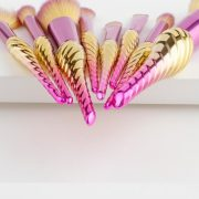 8pcs purple-gold seashell brush set 6