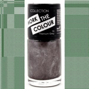 Collection Work The Colour Nail Polish 19 Titanium Grey
