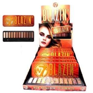W7 Blazin' Eyeshadow Palette TRAY 1