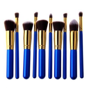 10pcs blue gold