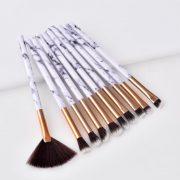 10pcs marble eye makeup brush set 1