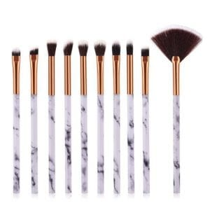 10pcs marble eye makeup brush set 5