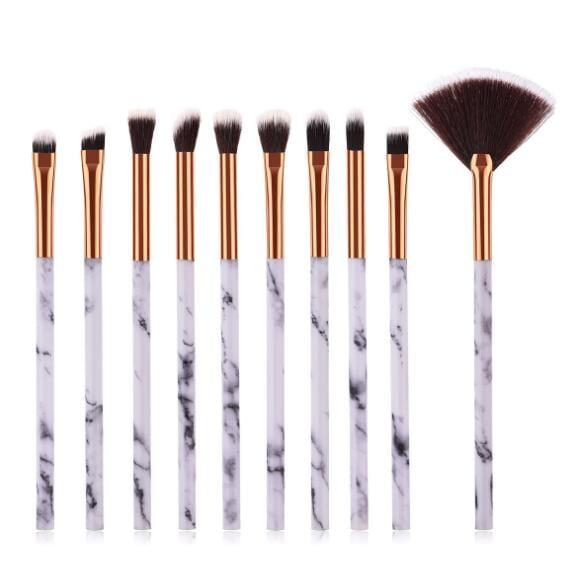 10pcs marble eye makeup brush set 5