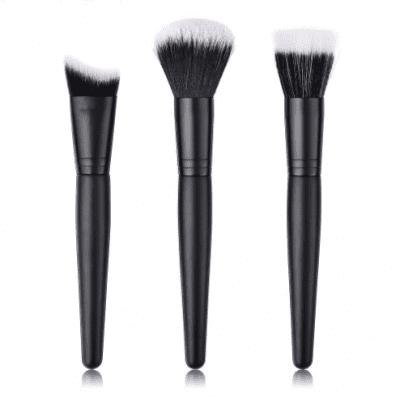 17d7464e0 Glowii 3pcs Black Makeup Brush Set (Black White Hair)