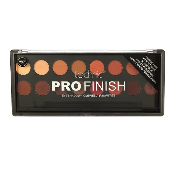 Technic Pro Finish Eyeshadow Palette - Molten Lava