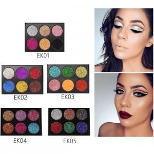 PopFeel 6pcs Glitter Shimmer Eyeshadow 1-5