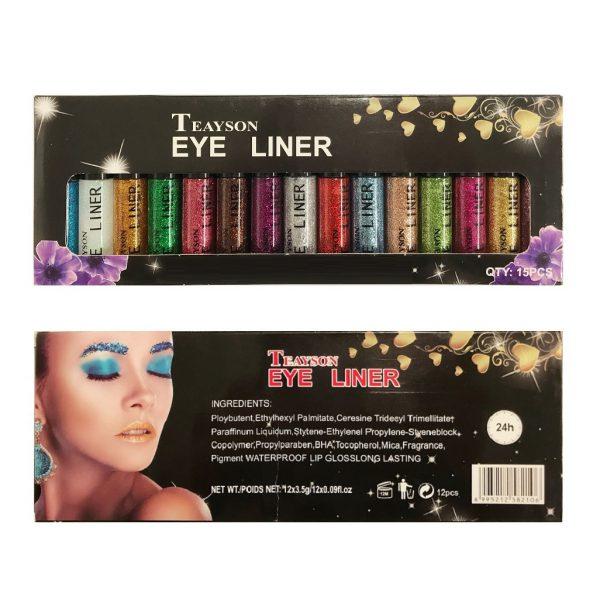 Teayson 15 Colours Glitter Eyeliner Set 3