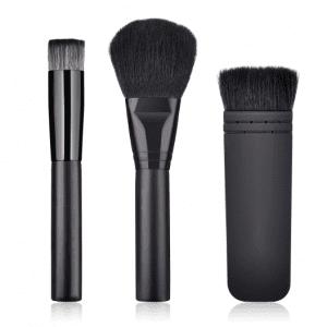 3pcs Black Face Set Black Hair
