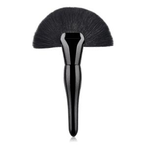 Black Large Curvy Fan Brush