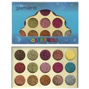 Glamierre 15 Colours Glitters Eyeshadow Palette 8