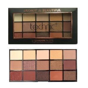 Technic 15 Colours Eyeshadow - Bronze & Beautiful 4