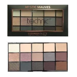 Technic 15 Colours Eyeshadow - Mystic Mauves 4