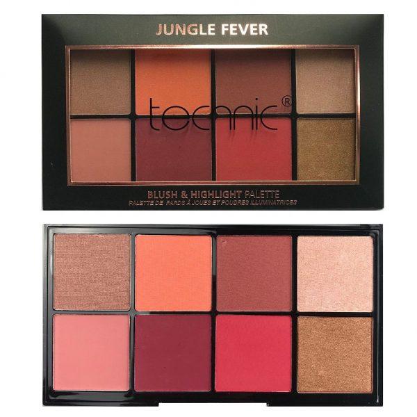 Technic 8 Colours Blush & Highlight Palette - Jungle Fever 4